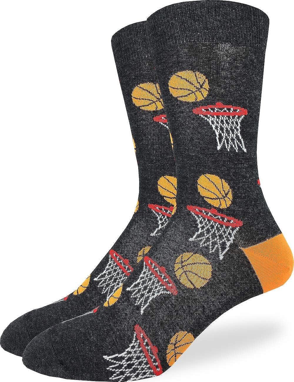 Size 13-17 Good Luck Sock Mens Extra Large Basketball Socks Big /& Tall