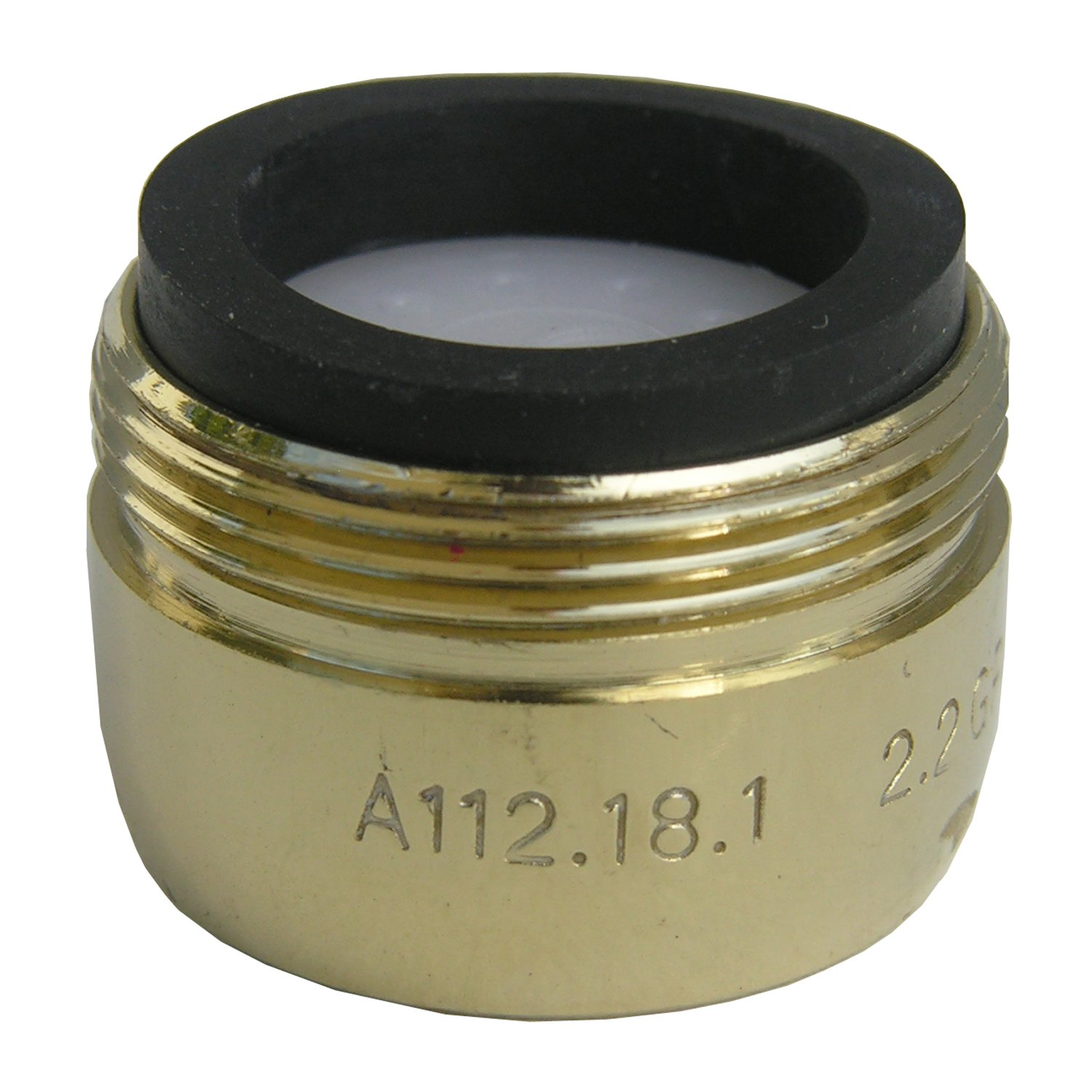 LASCO 09-1983 Small Male Faucet Aerator with 13/16 x 27 Thread, Polished Brass