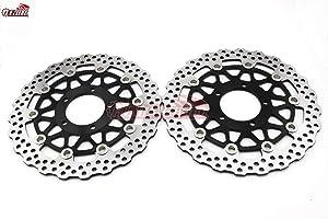 Front Disc Brake Rotors for Kawasaki Ninja ZX14 ZX-14R ZX14R ZZR1400 GTR14002006 2007 2008 2009 2010 2011 2013 2014 2015