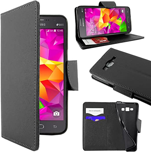 ebestStar - Coque Compatible avec Samsung Grand Prime Galaxy G530F, Value Edition G531F Etui PU Cuir Housse Portefeuille Porte-Cartes Support Stand, ...