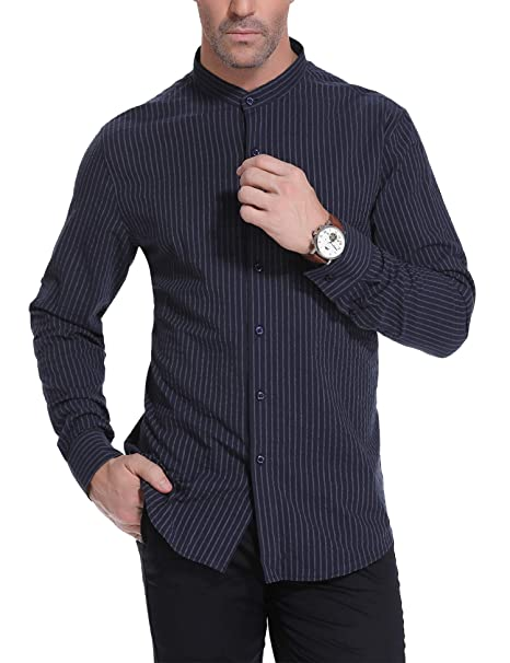 Amazon.com: iClosam - Camisa de manga larga para hombre ...