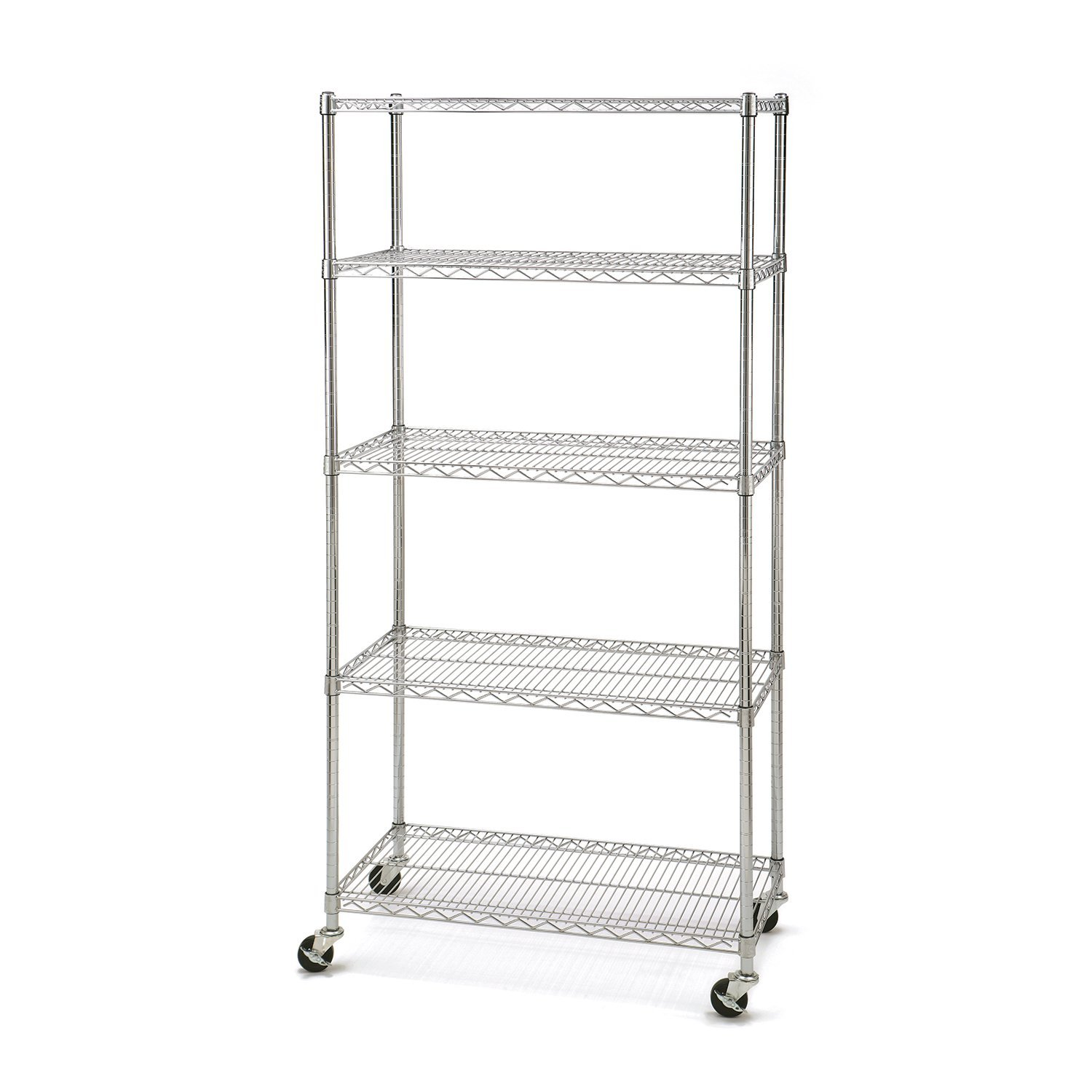 Seville Classics 5-Tier Commercial Shelving with Wheels by Seville Classics (Image #1)