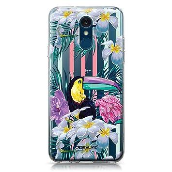 CASEiLIKE® Funda LG Q7, Carcasa LG Q7, Floral Tropical 2240, TPU Gel Silicone Protectora Cover