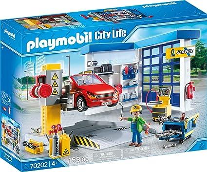PLAYMOBIL City Life Taller de Coches, A partir de 4 años (70202)