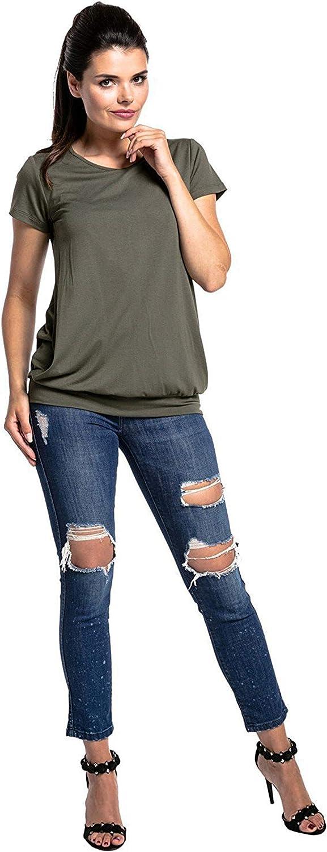 Fliegend Damen Stillshirt Stilltop Kurzarm Umstandsshirts Sommer Umstandstop Stilloberteil Doppelschicht Umstandmode S-3XL