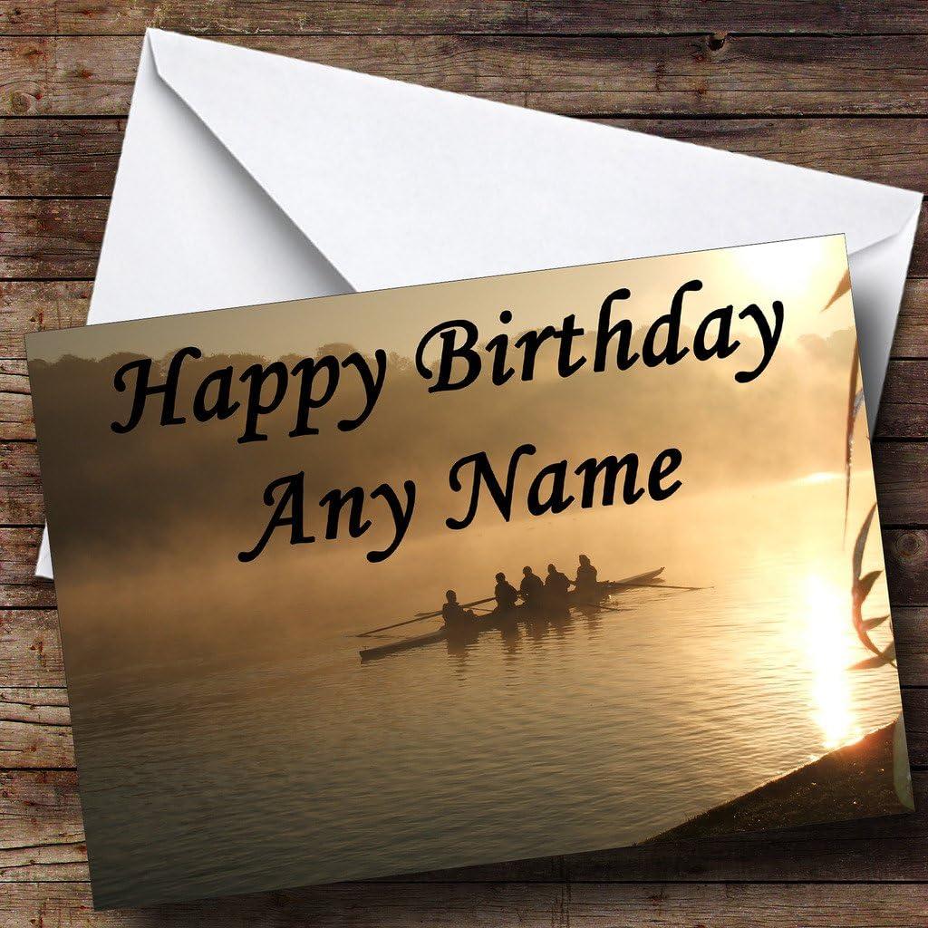 Rowing Personalised Birthday Card