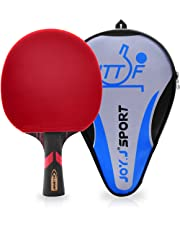 Joy.J Table Tennis Bat with case, Professional Pingpong Racket, TT Paddle with ITTF Approved Rubber, Perfect for Intermediate