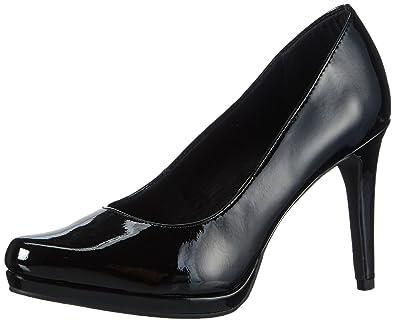 22417, Escarpins Femme, Noir (Black Patent 018), 36 EUTamaris