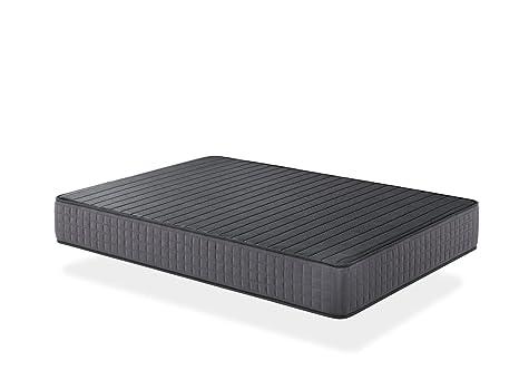 Seasons - Colchón viscoelástico de 25 cms, para cama de 135x190cm. Reversible con malla transpirable 3D y tejido carbono. Gran comodidad.