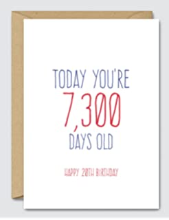 Today Youre 7300 Days Old Happy 20th Birthday