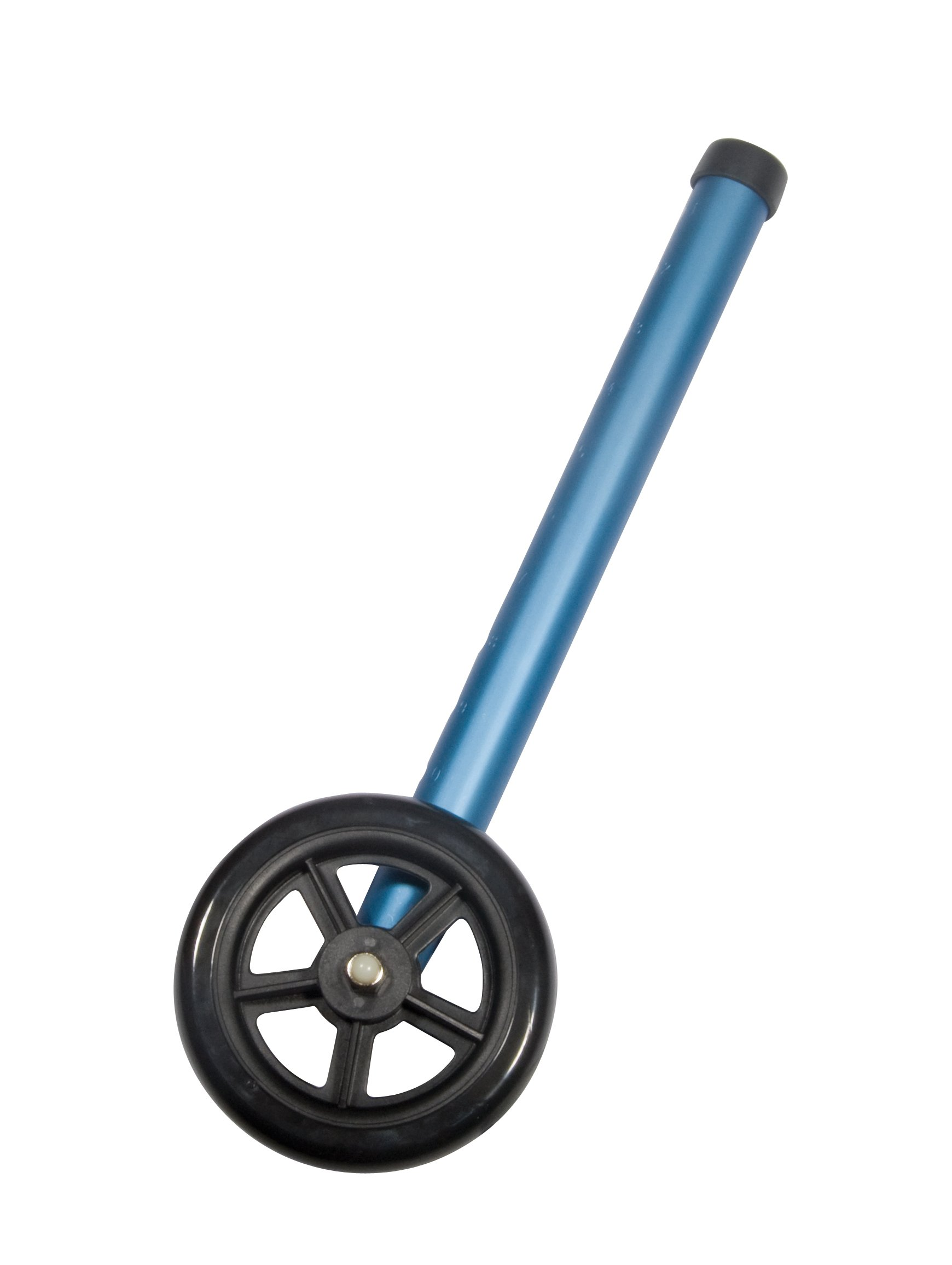 Drive Medical 5'' Walker Wheels with Two Sets of Rear Glides for Use with Universal Walker, Blue, 5''