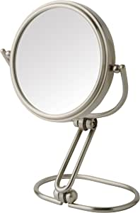 "Model's Choice MC315N 3"" Mini Folding Mirror, Nickel"