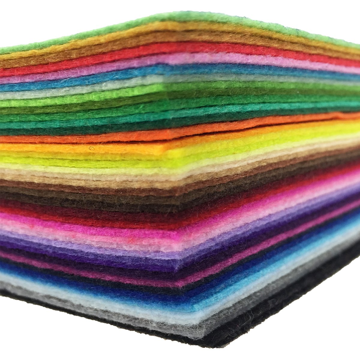 flic-flac 42pcs 12 x 12 inches (30cm30cm) Felt Fabric Sheet Assorted Color Felt Pack DIY Craft Squares Nonwoven by flic-flac (Image #3)
