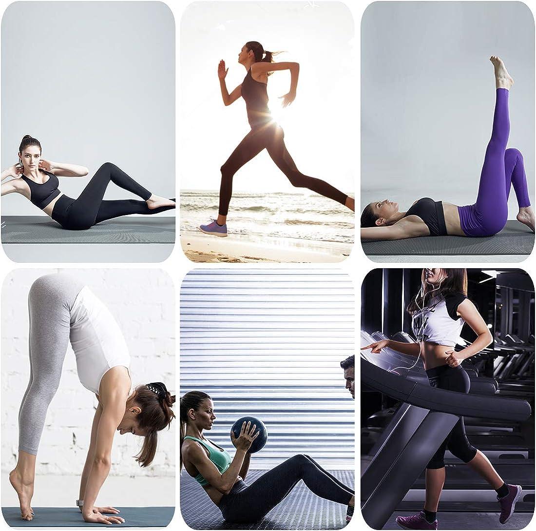 Yoga Fitness Workout Esecuzione Casual Wirezoll Leggings da Donna Elastici Collant Vita Alta Leggings Sportivi