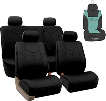 Universal Cuero PU Negra /& Premium Tela De Lujo Cubierta de asiento para Camión Camión