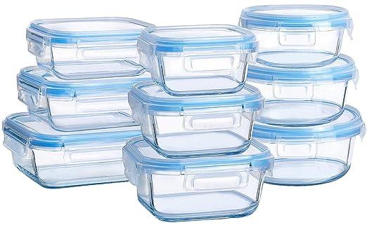 Contenedores de almacenamiento de alimentos de cristal con tapas ...
