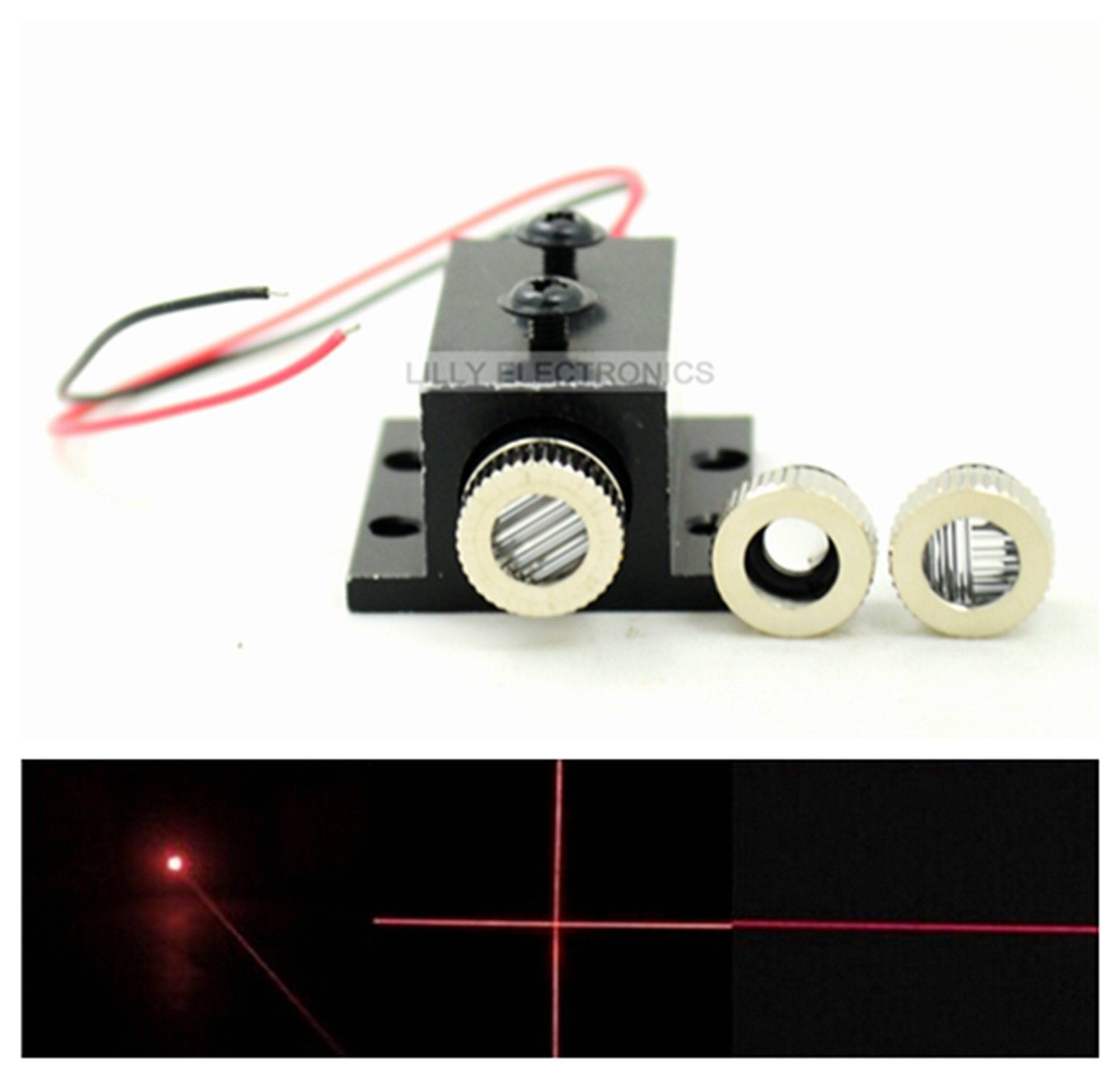 Adjusted Red Diode Lasers 650nm 30mw Dot/Line/Cross LED Module w/Heatsink & Driver In