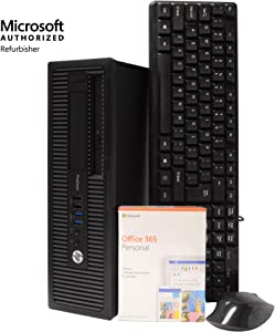 HP ProDesk 600 G1 SFF Small Form Desktop Computer PC, Intel Quad Core i5 3.2GHz, 8GB RAM, 500GB HDD, Microsoft Windows 10 Pro, Microsoft Office 365 Personal, DVD, Keyboard, Mouse, Wi-Fi (Renewed)