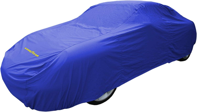 Goodyear Cubierta de coche de alta calidad - Protección impermeable para interiores / exteriores – Extra Grande – Azul