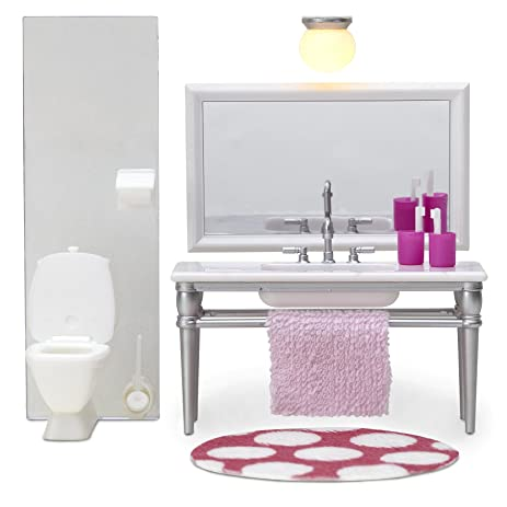Melody Jane Dolls Houses Lundby Smaland 1:18 Dolls House Bathroom Furniture  Sink Unit And