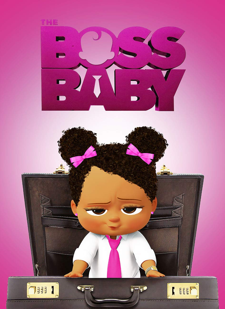 Boss Baby Briefcase Baby Afro Baby African American