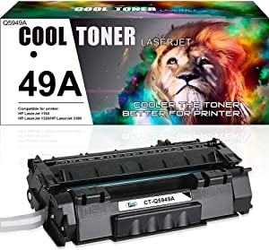 Cool Toner Compatible Toner Cartridge Replacement for HP 49A Q5949A 49X Q5949X for HP Laserjet 1320 1320N 1320TN 1320NW 3390 P2015 P2015DN 3392 HP Laserjet MFP M2727nfs M2727 Printer (Black, 1 Pack)
