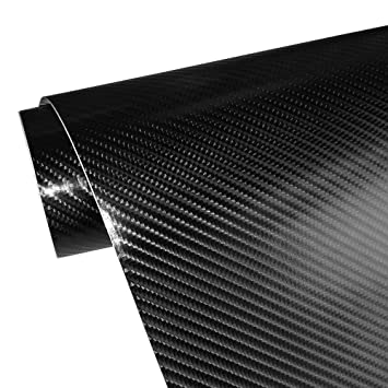 4D Carbon Fiber Adhesive Car Vinyl Wrap Sticker with Air Release  11 5