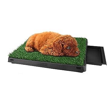BUSYALL Inodoro Cesped Alfombras de Hierba Artificial para Perros Cachorros Mascotas Lavable Extraible Hacer PIS Pipi Orinar en Casa, 63 x 50 x 7cm, ...