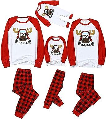 Henseek Conjunto de pijama a juego para mujeres, hombres ...