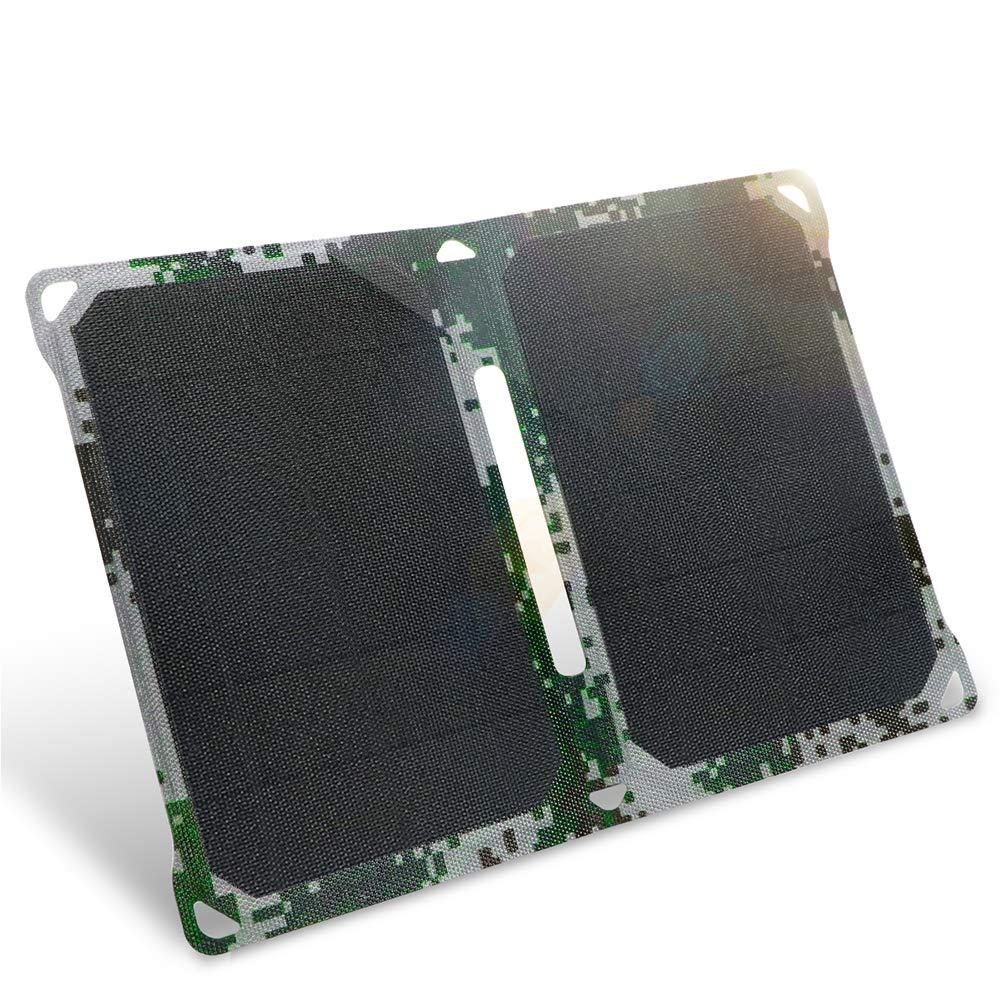 ZY Portátil 15W Solar Plegable Paquete Cargador móvil ...