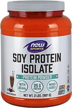 Now Foods Aislado de proteína de soja, chocolate - 907g 1090 ...