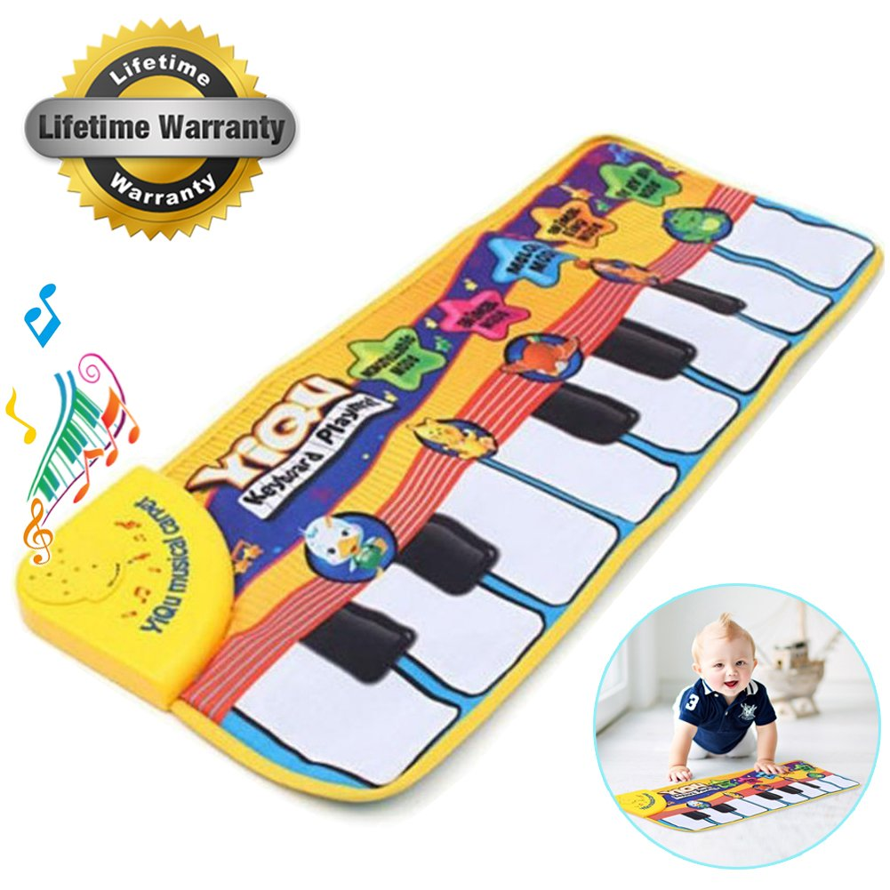 Amison New Touch Play Keyboard Musical Music Singing Gym Carpet Mat Best Kids Baby Gift Amison-60