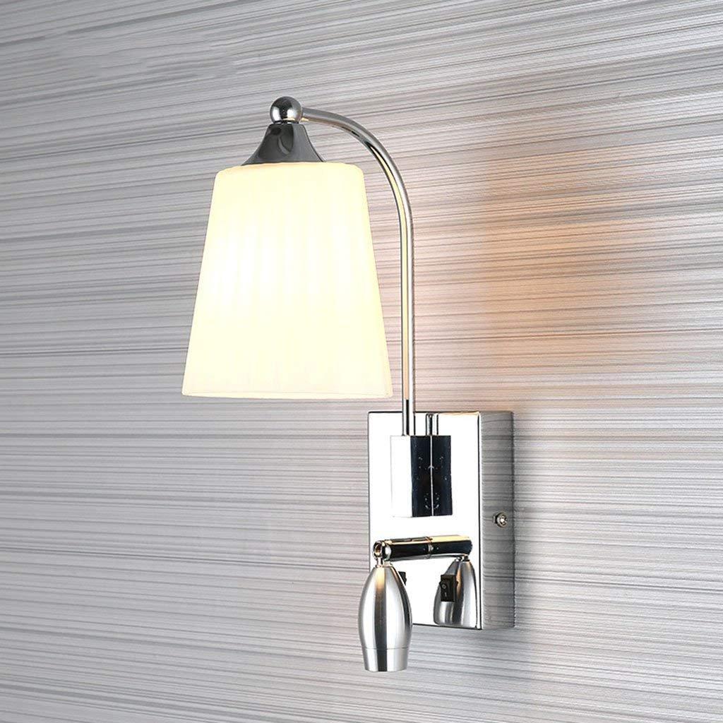 E applique Lampada da parete a LED Lampada da lettura Lampada da comodino Lampada da parete della stanza da bagno della luce della base della lampada da parete della luce di notte E14