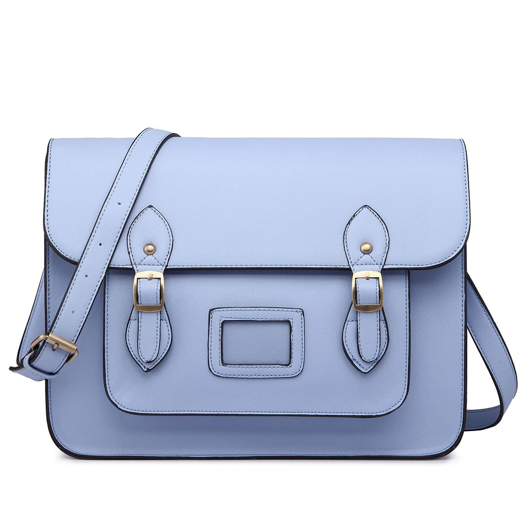 Miss Lulu Brand Vintage Designer Faux Leather Work Briefcase Satchel Bag School Bag