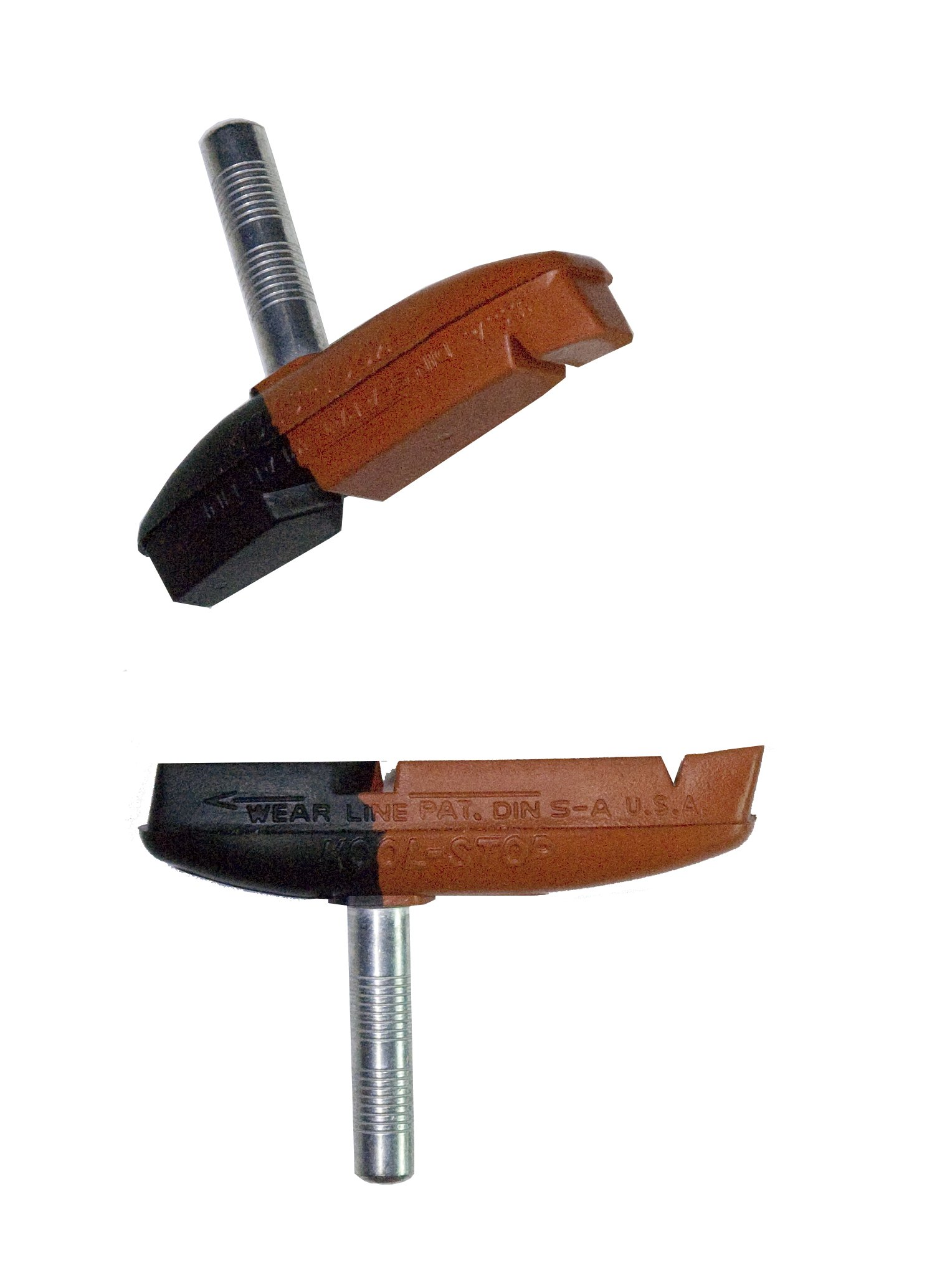 Kool Stop Cantilever Thinline, Cantilever Brake Pads, Non-Threaded Posts, Dual, Black, Pair by Kool Stop