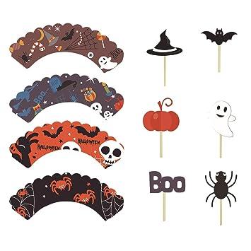 Petalum Lot De 12 Caissettes De Decoration Cupcakes En Papier Style