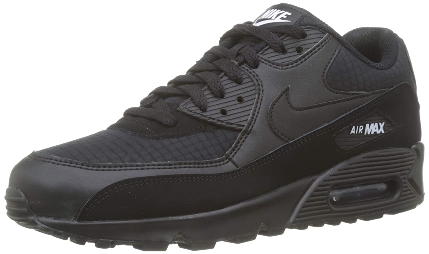 sports shoes e847d 11994 Amazon.com   Nike Mens Air Max 90 Essential Running Shoes Black White  AJ1285-019 Size 13   Road Running