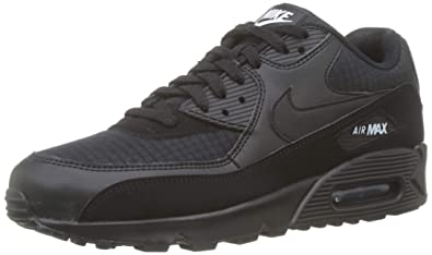 new product afefd dddb0 Nike Mens Air Max 90 Essential Running Shoes Black White AJ1285-019 Size 9