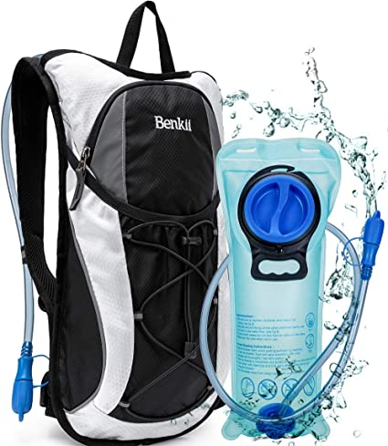 Lightweight Pack for Running Hiking Riding Camping Cycling Climbing Hydration Backpack with 2L BPA Free Water Bladder