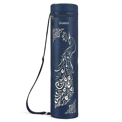 Gonex Bolsa para Colchoneta de Yoga, Funda Esterilla Yoga Ejercicios Fitness Duradera Tela Oxford Impermeable con 2 Bolsillos de Carga, Correa de ...