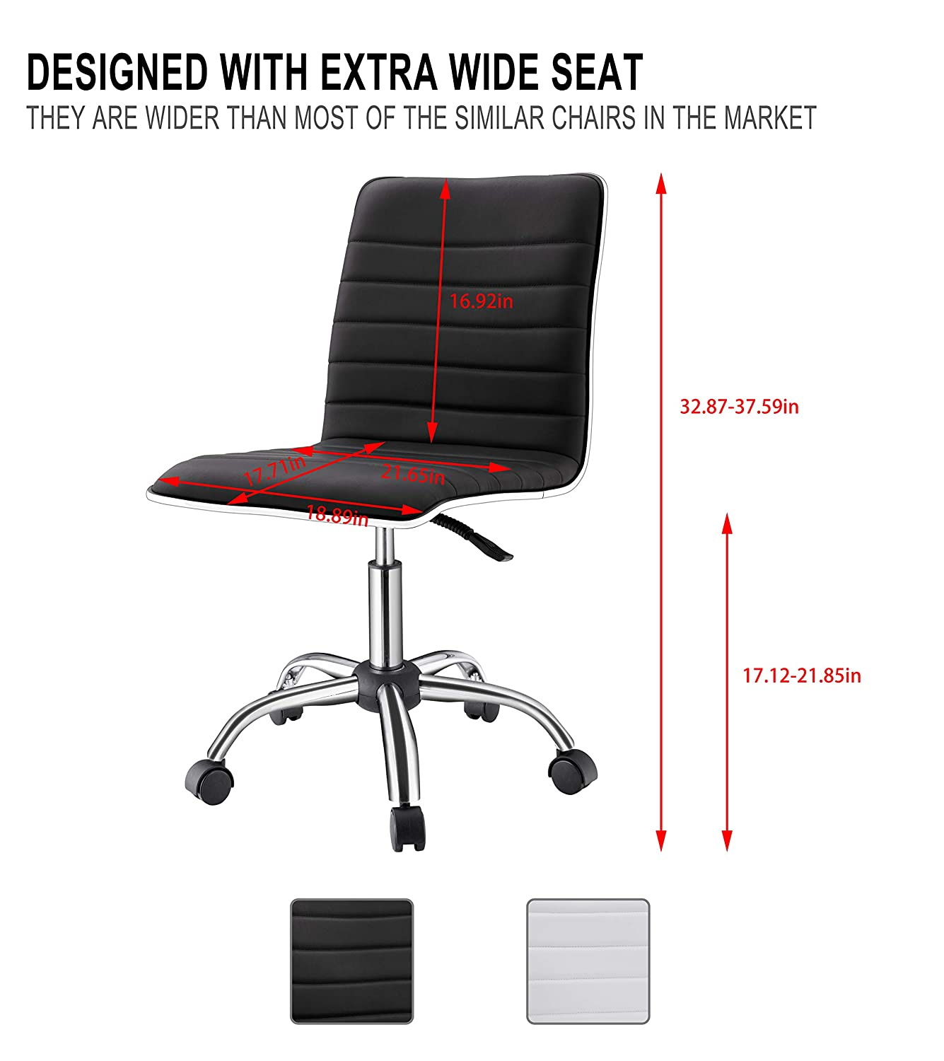 LUXMOD Office Chair in PU Black