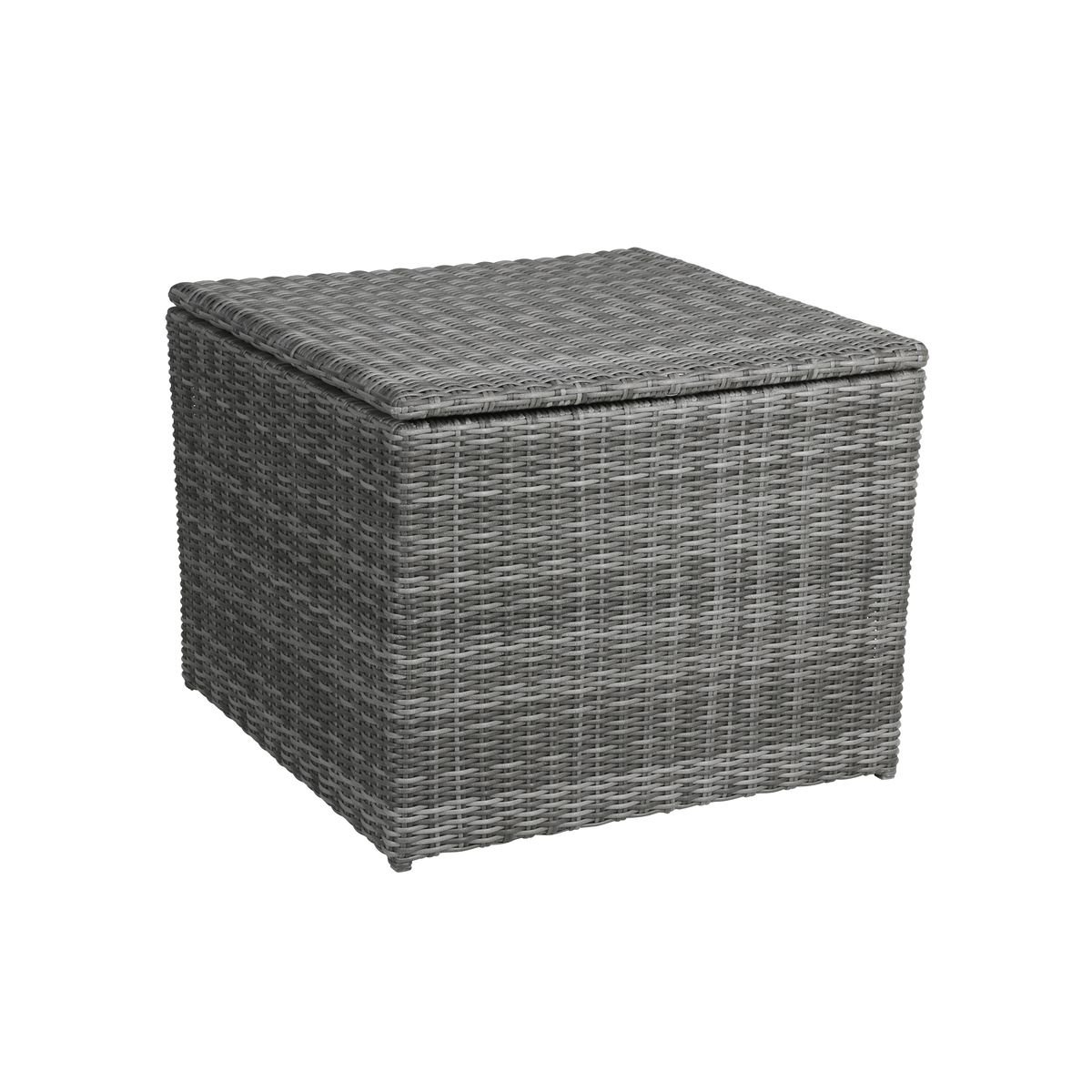 greemotion auflagenbox bari rattan kissenbox in grau kissen auflagen truhe aus polyrattan. Black Bedroom Furniture Sets. Home Design Ideas