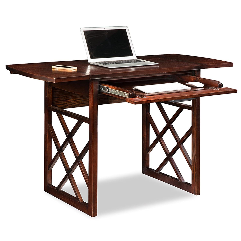 Amazon.com: Leick 81420 Chocolate Oak Drop Leaf Computer/Writing Desk:  Kitchen U0026 Dining