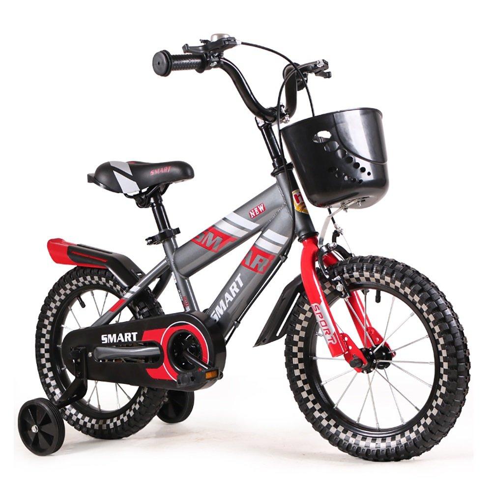 子供の自転車6-7-8-9-10歳の赤ちゃんのキャリッジの男の子と女の子の赤ちゃんの自転車14 16インチ青い赤 B07DYJ5NGP 18 inch|赤 赤 18 inch