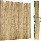 Brise vue / Canisse roseau naturel / Toile d'ombrage 2 x 5 mètres 780 gr/M2