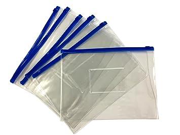 Amazon.com: 12 unidades A5 cierre azul Zippy bolsas ...