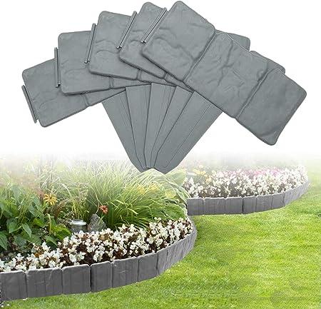 20 Pack Landscape Border Flexible Interlocking Edging Plastic ...