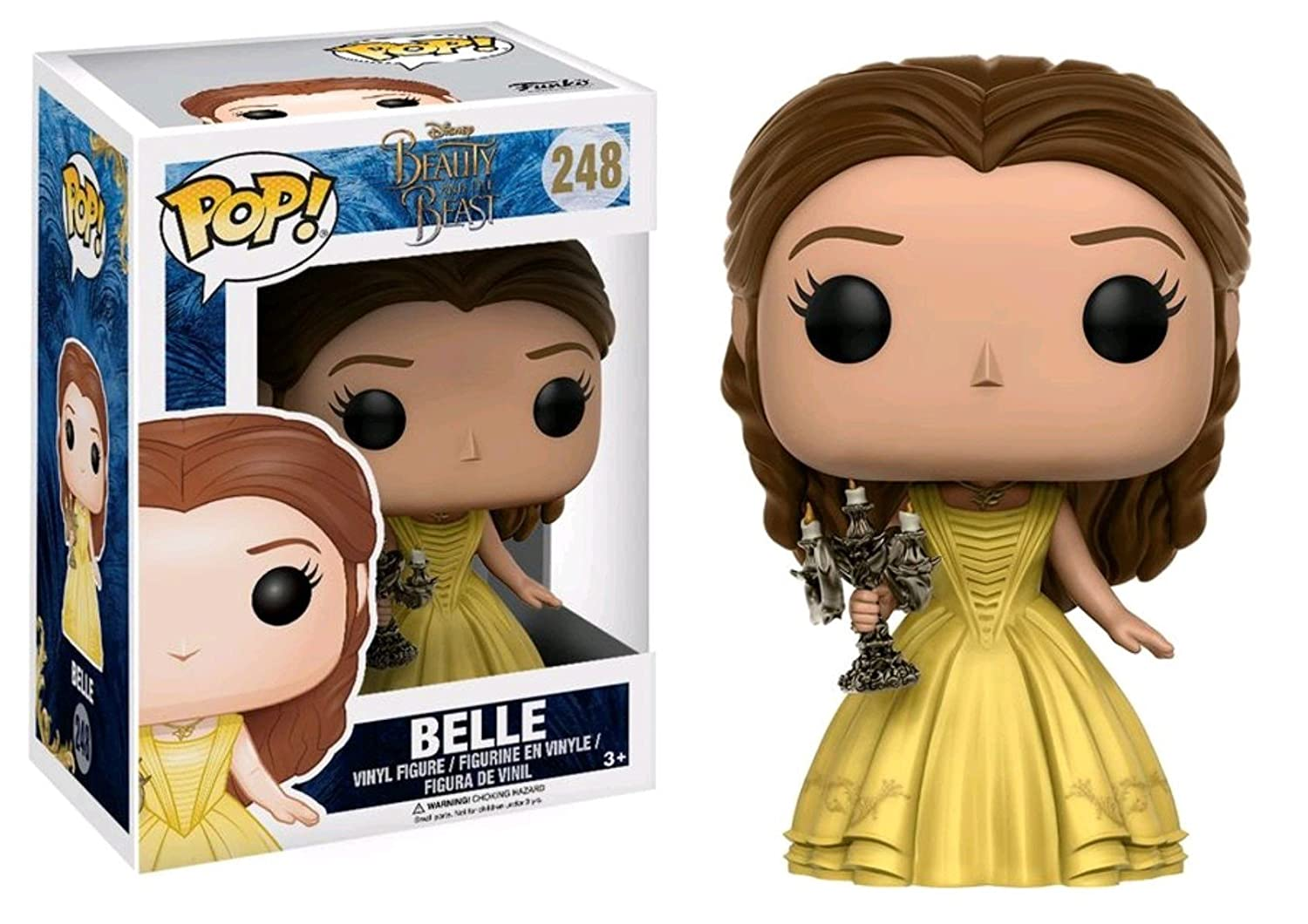 Beauty /& The Beast Belle with Candlestick 248 exclusive - Funko Pop!