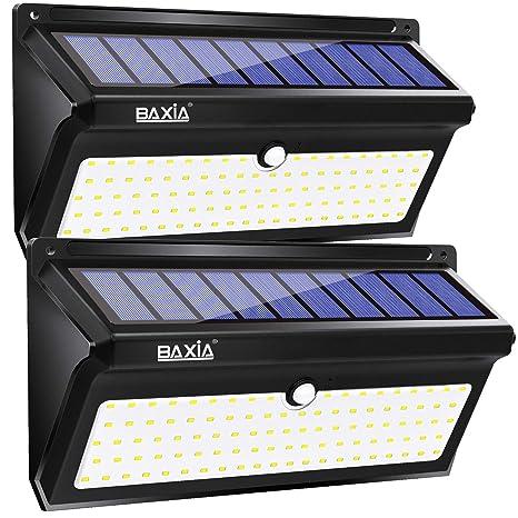 4X LITOM 20LED Solarleuchte Wandleuchte Bewegungsmelder Außenstrahler Lampe