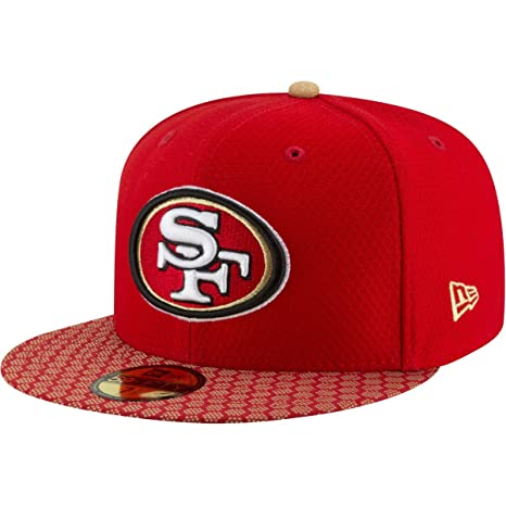 b91c4dde Image Unavailable. Image not available for. Color: San Francisco 49ers  Fitted Size 6 7/8 Hat Cap - Team Colors